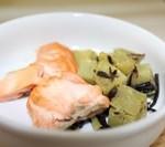 鮭の塩焼き・ひじきとさつま芋の煮物
